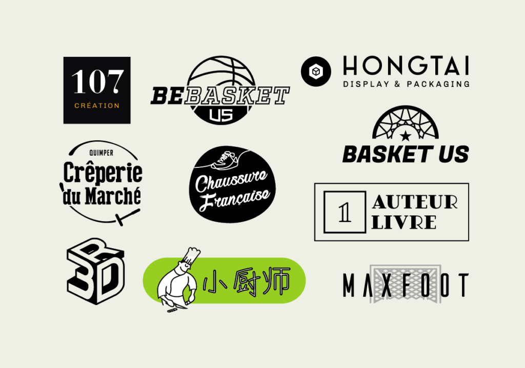 Graphiste Vannes : exemples de logos créés pour nos clients
